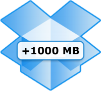 Dropbox - plus1000 MB